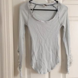 Free People Tops - Free People Baby Blue Synergy Cuff Thermal